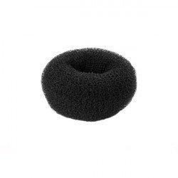 Donut à chignon rond noir 3.5cm