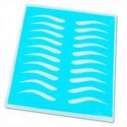 Peau d'entrainement microblading en silicone avec formes sourcils