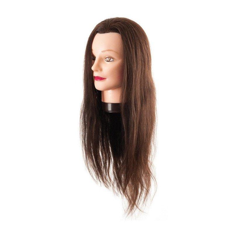 Tête malléable cheveux synthétiques 55/60 cm avec étau