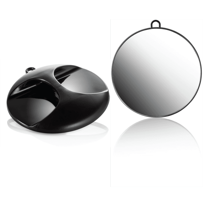 Miroir coiffeur rond couleur noire