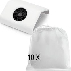 10 sacs Aspirateur manucure NAILSYSTEM