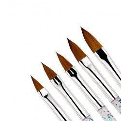 Set de 5 pinceaux résine acrylique