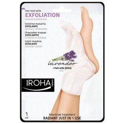 Chaussettes Masque Exfoliant pour les pieds à la Lavande IROHA