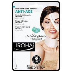 Masque visage et cou 100% coton anti-âge Collagène - IROHA