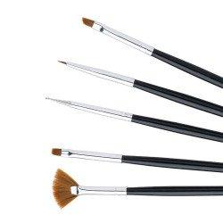 Kit de 5 pinceaux professionnel pour manucure et nail art