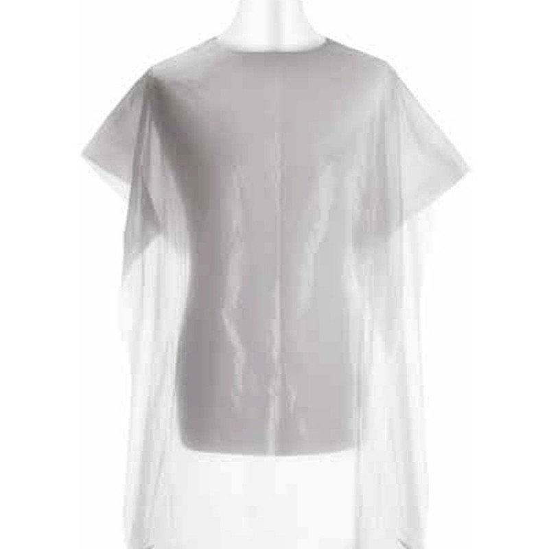 Cape de coupe polyéthylène blanc jetable x 30