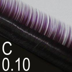 Extensions de cils bi-couleur - Courbure C - Boîte de 3 000 cils