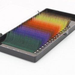 Extensions de cils couleur - Courbure J - Boîte de 4 000 cils