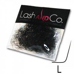 Extensions de cils noires - Courbure L - Sachet de 0,5 g