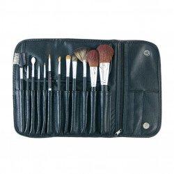 Kit 12 pinceaux maquillage + trousse