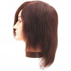 Tête maléable homme cheveux naturel avec etaut