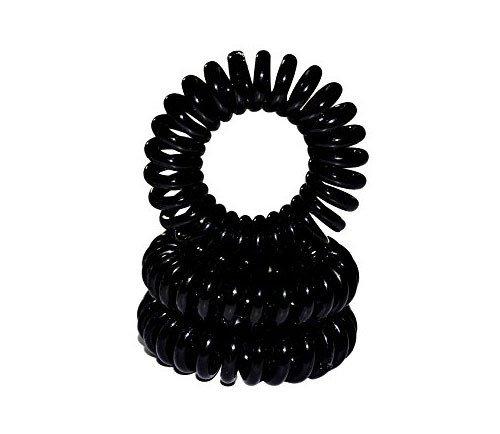 Lot de 2 spirales élastiques noires 35mm