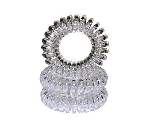 Lot de 2 spirales élastiques transparentes 35mm