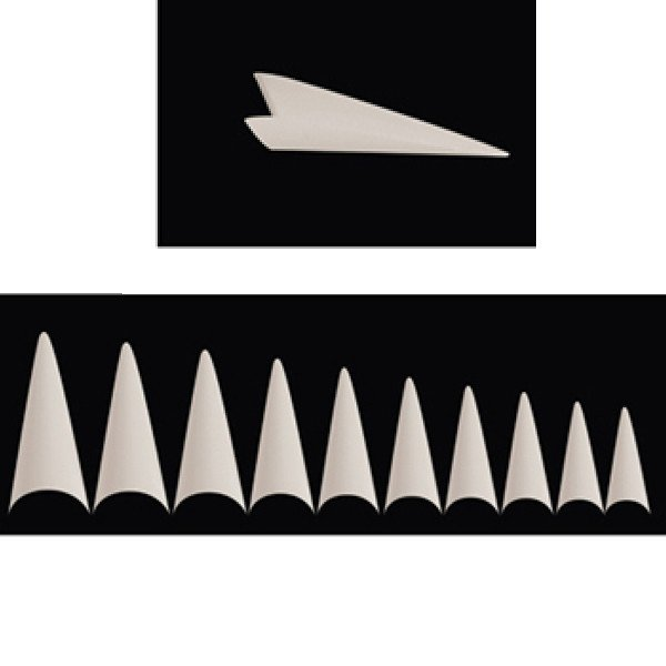 Forme stiletto - Couleur naturelle - Boîte de 100