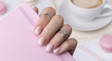 Beautiful fake nails with acrygel